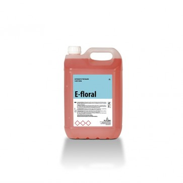 Detergente neutro perfumado floral E-FLORAL garrafa de 5 Litros.