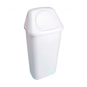 MERCAHIGIENE.com Papelera plastico con cabezal y tapa 40 Litros