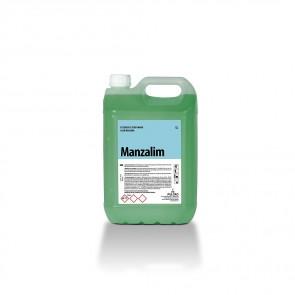 Detergente perfumado olor manzana MANZALIM garrafa de 5 Litros.