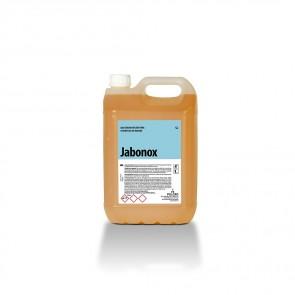 Mantenedor neutro para superficies de madera JABONOX garrafa de 5 Litros.