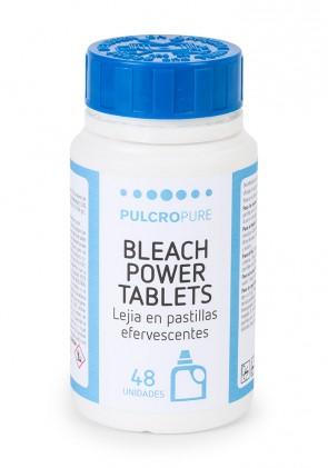 Lejia en pastillas efervescentes BLEACH POWER TABLETS envase de 48 pastillas