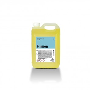 Detergente perfumado olor limón F-LIMON  garrafa de 5 Litros.