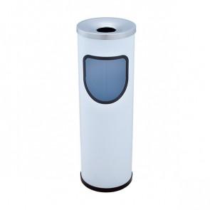 MERCAHIGIENE.com Cenicero papelera pintada redonda blanca