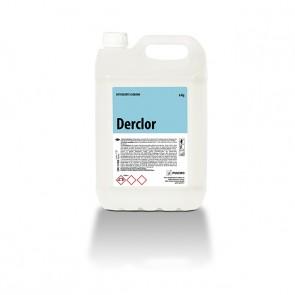 Detergente higienizante clorado DERCLOR garrafa de 5 Litros.