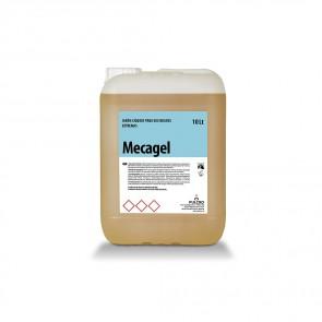 Jabón de manos para suciedades extremas MECAGEL en envase de 10 litros.